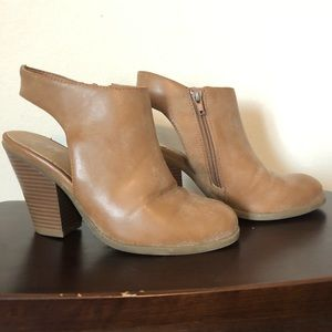 Guess brand camel colored leather booties